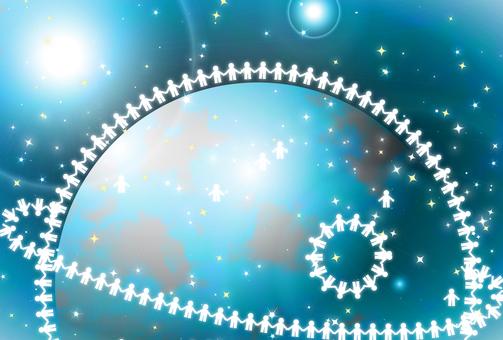 從太空 2 看世界上的人圈