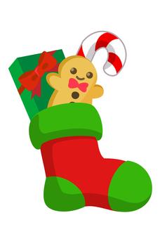 聖誕圖標襪子禮物
