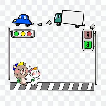 Traffic safety green light Animate Frame Notepad