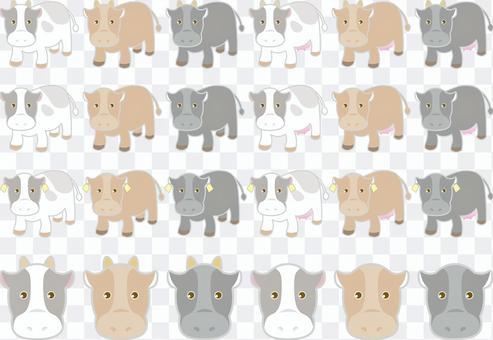 Cow illustration set