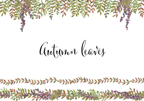 秋葉水彩框架集合