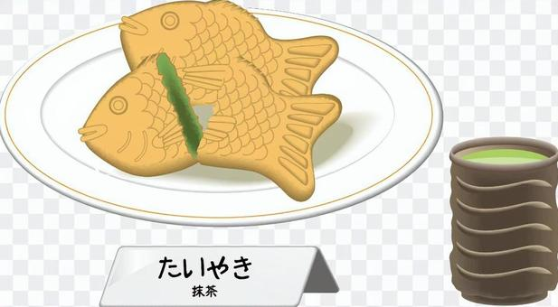 泰式燒熱日本甜點種抹茶