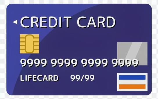 信用卡_深藍色_無電線