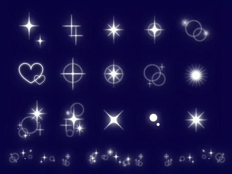 Glittery sparkle