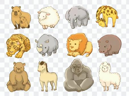 動物可愛變形套