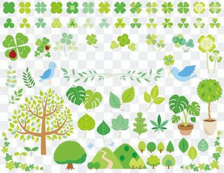 Leaf tree material set 01