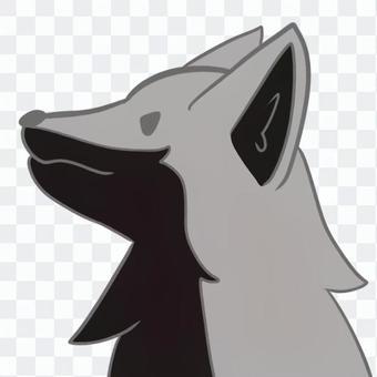 狗灰色圖標