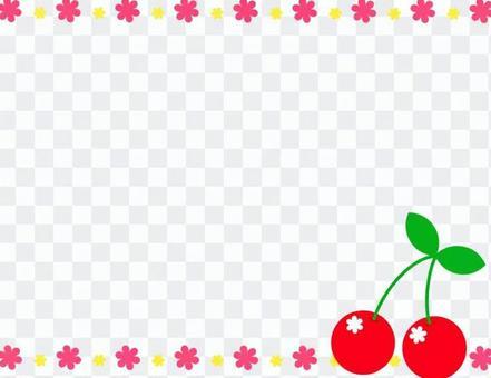 櫻桃可愛的背景