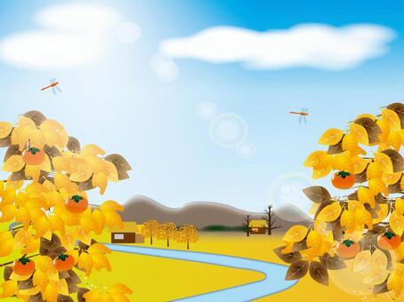 枯葉和農村