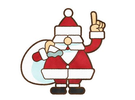 聖誕老人與水彩觸摸指向