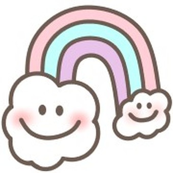 Rainbow face smile smile colorful