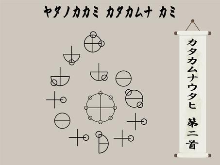 Katakhamnautahi 2nd 頸螺旋圖,古代字符