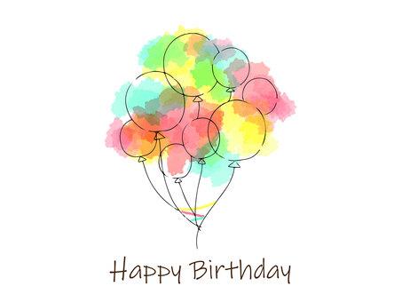 Beautiful balloon background birthday card