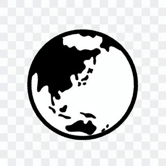 地球線繪圖單色