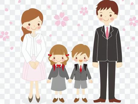 入場儀式的家庭