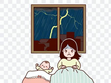 一位母親無法與閃電共眠,嬰兒則擁有良好的睡眠