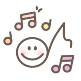 音符音樂透明微笑微笑