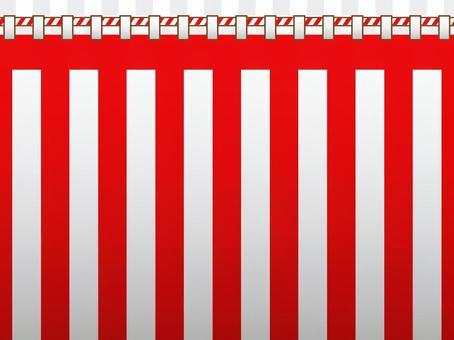 紅色和白色的窗簾