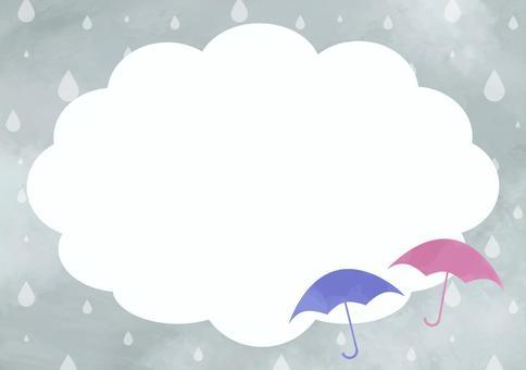 水彩的雨季背景框架