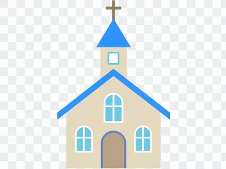 教会,蓝色