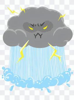 集中豪雨 雷