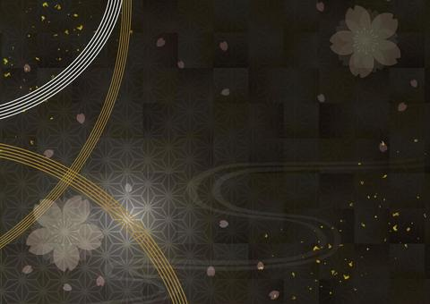 Japanese style background material 23