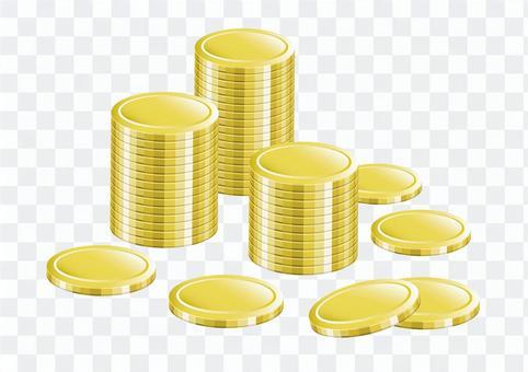 ゴールドコインイラスト