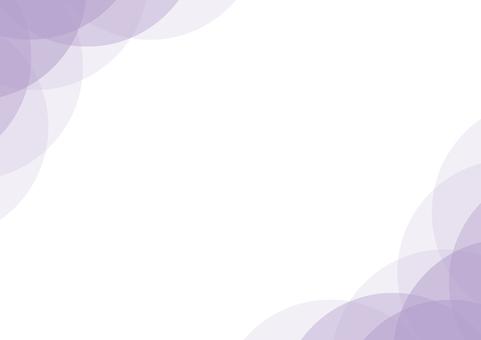 框架背景紫色紫色彎曲的圓圈