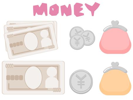 錢錢包簡單插圖集
