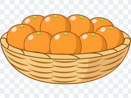 裝滿籃子的橘子