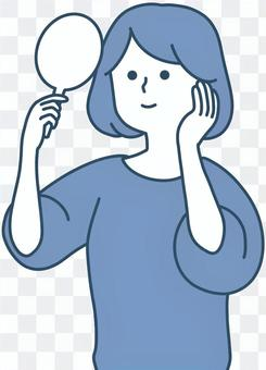 為看臉的女性設計的簡潔設計