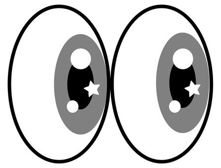 Glitter eyes Gray eyes icon