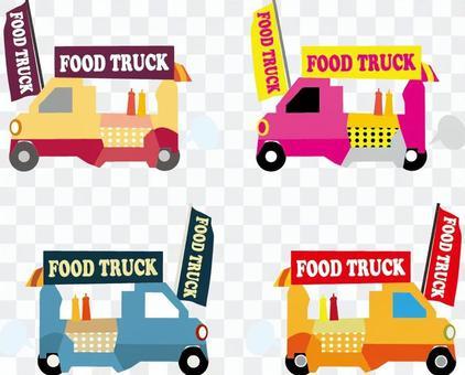 餐飲貨車的免費插圖