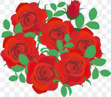 赤いバラ ブーケ