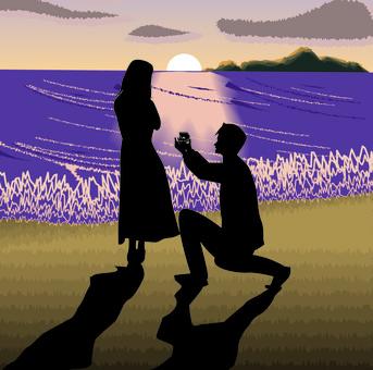提案驚喜戒指日落海灘