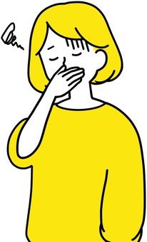 女人抱著她的嘴噁心噁心
