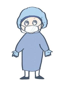 個人防護裝備(帶面罩)