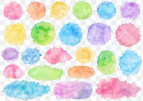 水色材料13印跡
