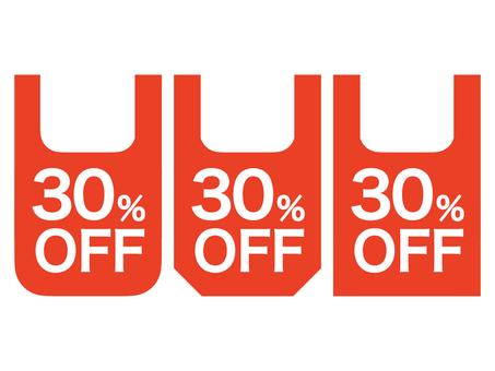 30% OFF Mark set: Bag B: Red