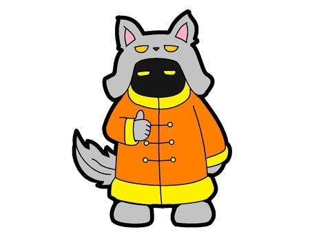 灰狼人服裝鬼
