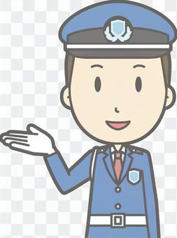 Security guard - information smile - bust
