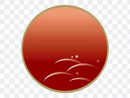 Japanese style background red