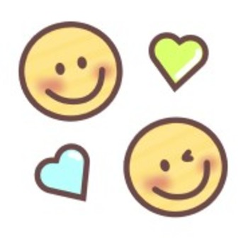 Smile smile face wink heart