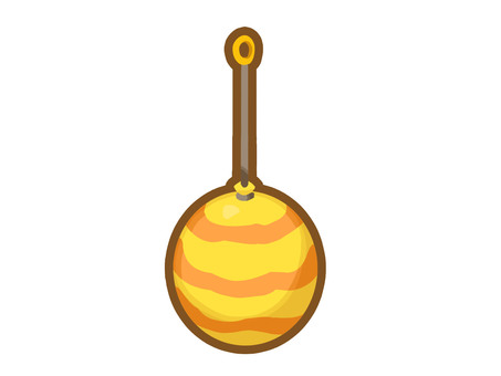 帶線的氣球溜溜球圖標