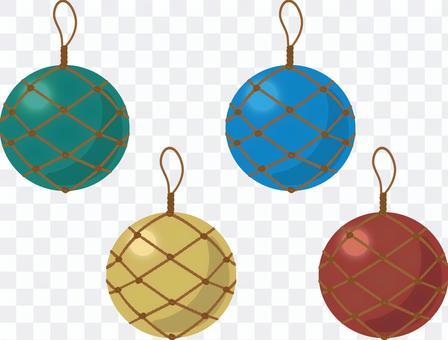 Ryukyu glass ball set