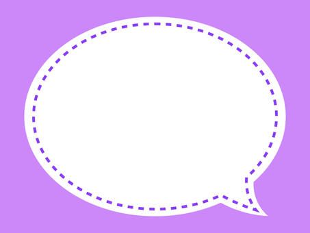 Simple stitch balloon frame: purple