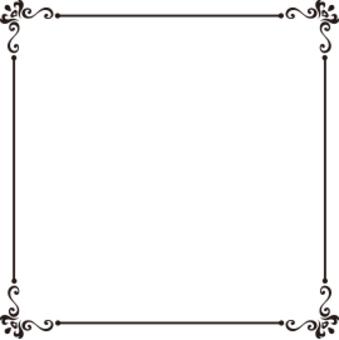 Decorative frame black and white
