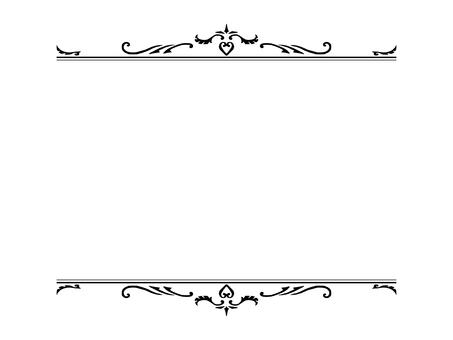 Vintage top and bottom frame