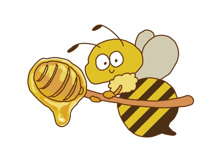 Bees carrying a honey server