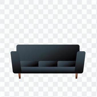 Black sofa 1